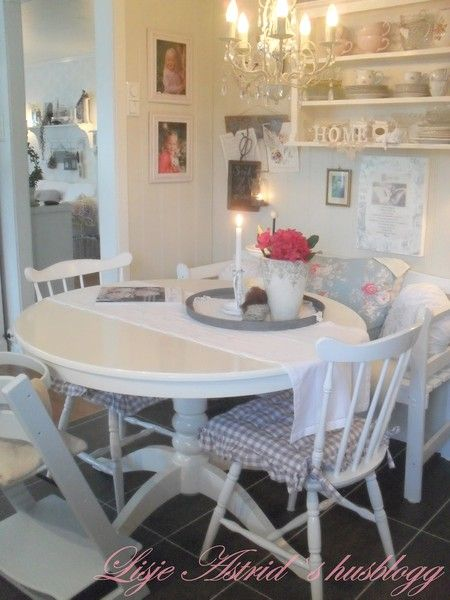 Интерьер в стиле шебби шик в отдельно взятой квартире. Кухня-столовая 25