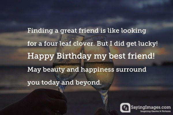 Birthday Quotes & Wishes for Best Friend   SayingImages.com