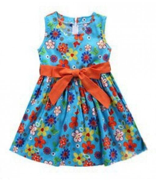 Vestido Pretty Girl Florido Azul