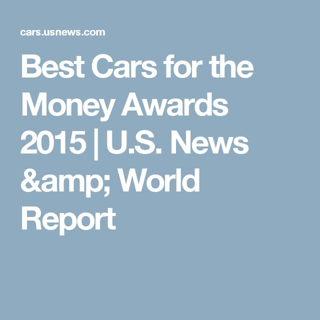 Best Cars for the Money Awards 2015 | U.S. News & World Report