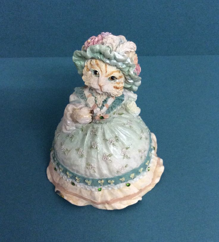 Victorian Cat Music Box
