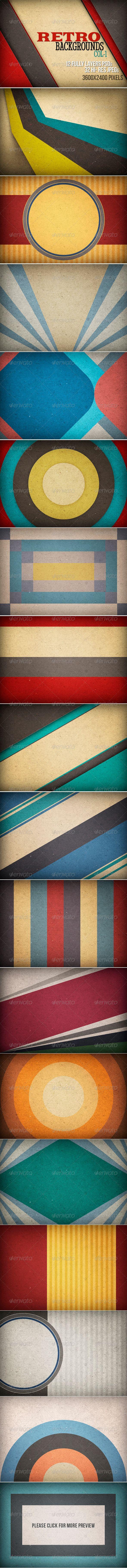Retro Backgrounds 3600×2400 px, 300 dpi #design Download: http://graphicriver.net/item/retro-backgrounds/5666344?ref=ksioks