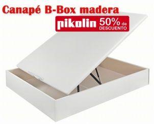 Canapé abatible B-box madera con base de Pikolin