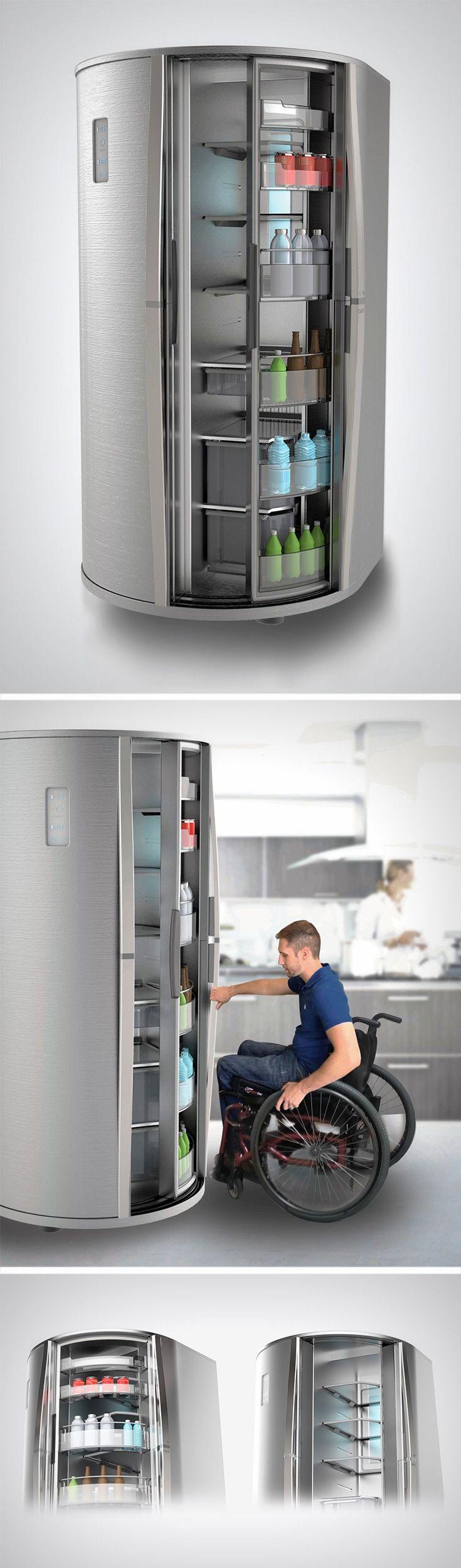 The Sliding Fridge is one such idea that makes a much needed change to the way we interact with fridge doors. //새로운 형태의 냉장고 참신하고 이런 형태가 왜 시중이 나오지 못했는지 생각을 하게 한다.