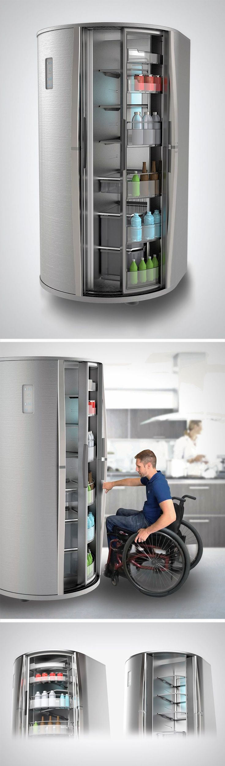 The Sliding Fridge is one such idea that makes a much needed change to the way we interact with fridge doors.