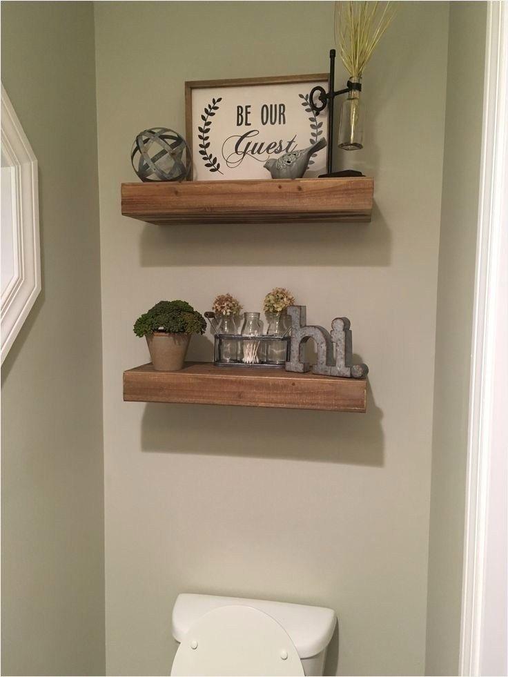 42 Creative Farmhouse Bathroom Shelves Ideas That Will Make Your