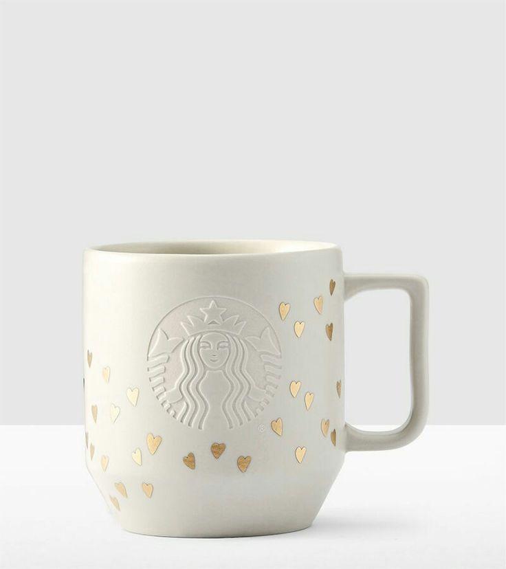 Golden Hearts Starbucks mug, Valentines day collection