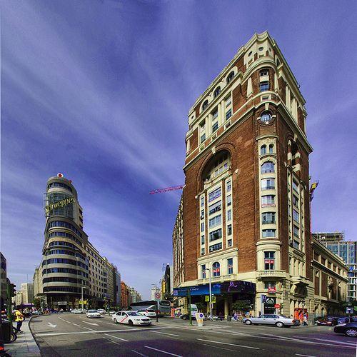 Edificios de Gran Via Madrid, Plaza de Callao   Foto: José Luis González