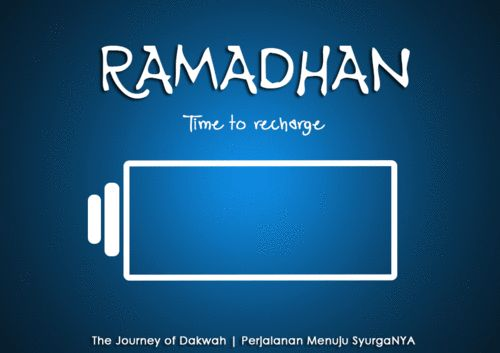 Ramadhan.. Time to recharge..