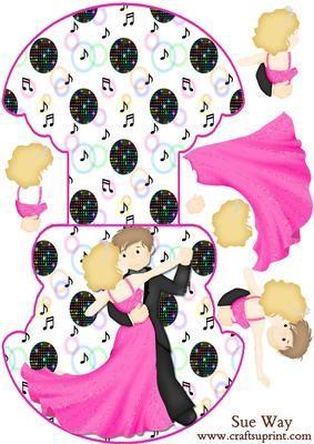 Dancing the Night Away Wobble or Rocker Card