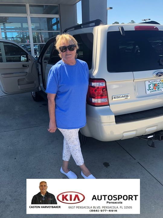 KIA AutoSport Of Pensacola And Caston Harveybaker Would Like To  CONGRATULATE Tracy James On The Purchase Of Her 2008 Ford Escape!!! Thank  You So Muu2026