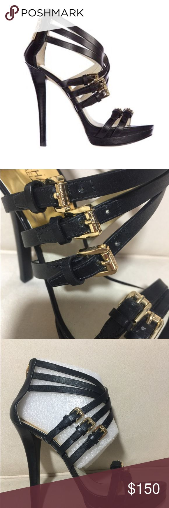 """Michael Kors Ava Platform Shoes Like new Michael Kors Ava Platform. Bought for $225 but see them on line today for $327 because the shoe is sold out! Love this shoe, but I'm 5'8"""" and I'm no longer dating a 6'3"""" guy. You will love these beauties. Liked them so much I bought them in 2 colors. MICHAEL Michael Kors Shoes Platforms"""