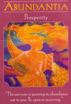 Abundantia doreen virtue goddess cards\
