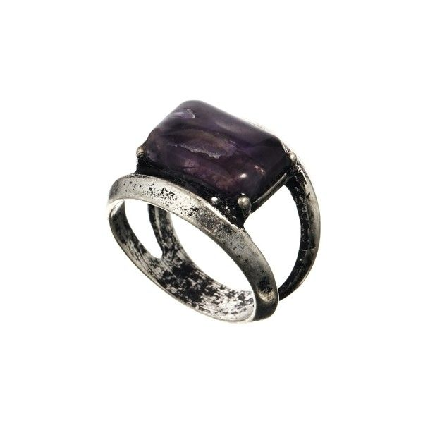 ASOS Semi Precious Rectangular Stone Ring ($11) ❤ liked on Polyvore featuring jewelry, rings, accessories, asos, semi precious stone jewelry, semi precious jewellery, semi precious rings and stone jewellery