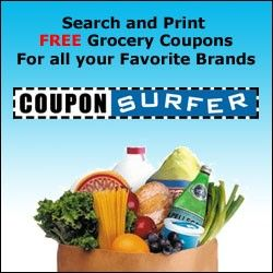 Lots of coupons!!! Coupon Surfer – FREE Grocery Coupons  for all your Favorite Brands