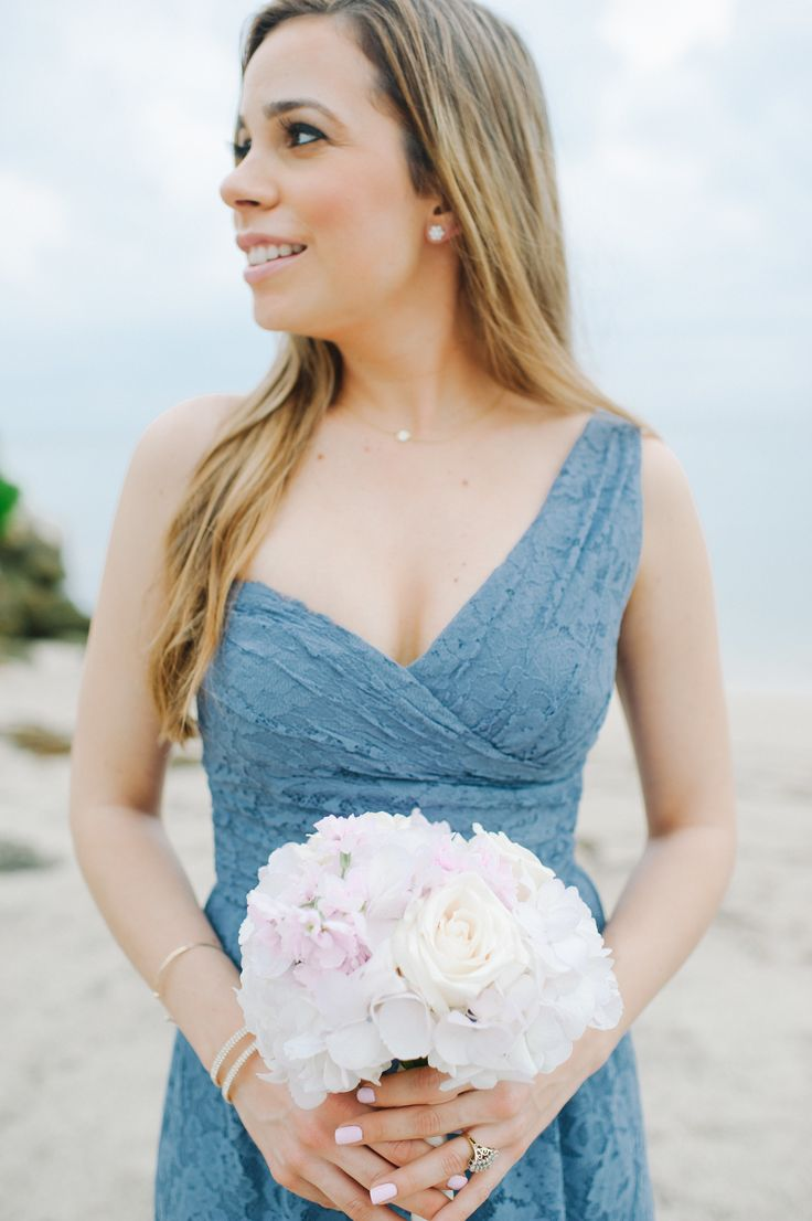 41 best bridesmaid dresses images on pinterest bridesmaid ideas glamorous ballroom wedding in miami beach slate blue bridesmaid dressesblue ombrellifo Image collections