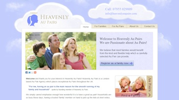 Web design & mobile website development for an aupair agency in London. They required a website designed with their target market of families and au pairs in mind. Clear calls to action were designed as well as being developed to look good on mobile devices. The cloud graphic design for the background was also created by us. Check out www.wildpurpledesign.co.uk/portfolio.html
