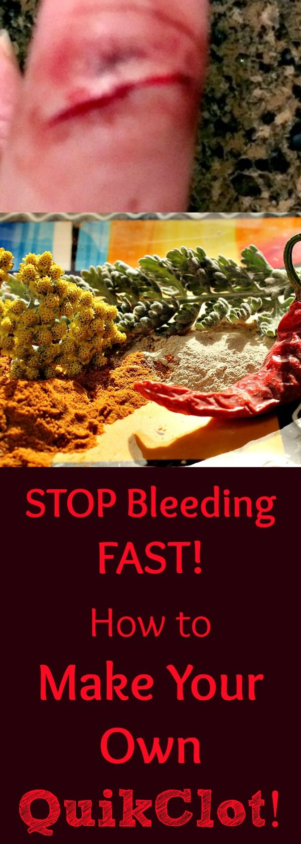 Find out how to stop a wound from bleeding FAST! Even if you don't have the real Quik Clot, you can make your own easily and effectively! Find out how!
