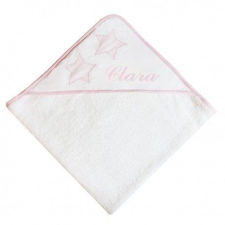 """Cape de bain """"Star Rose pastel"""" à personnaliser, clara, nanelle, cape de bain"""