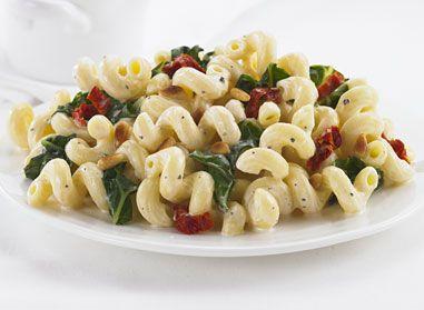 Tortiglioni à la bette à carde et aux tomates séchées au soleil: Simple, rapide, léger et délicieux!