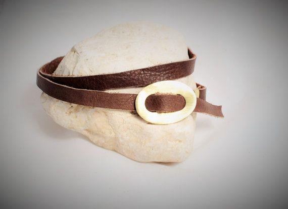 Boho Choker Necklaces Free spirit Leather collar Raw di NoaZen