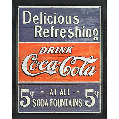 Coca- Cola Tin Sign 16 x 13in by The Treasured Basket R3bka