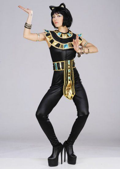 Ladies Egyptian Goddess Cat Costume Could Be Crete