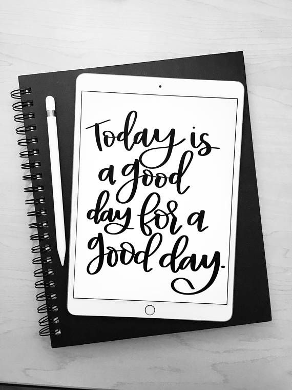 Today is a Good Day, Wall Art, Good Day, Inspirational Sign, Positive Vibes, Positive Vibes Gift, Positive Vibes Only, Good Day Print, Positive Affirmation, Positive Thinking, Calligraphy Print, Calligraphy Wall Art, Housewarming Gift  This listing is for an INSTANT DOWNLOAD of the PDF files of this artwork.  Dimensions: 5x7, 8x10 inches. Please send me a message if you would like the printable design in a different size! No extra charge :)  Please Kindly Note: You will receive a FILE on…
