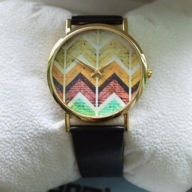 EUR € 13.79 - Cinturón 2014 nuevo reloj de Ginebra del cuero Onda del color del grano de la aleación del reloj, ¡Envío Gratis para Todos los Gadgets!
