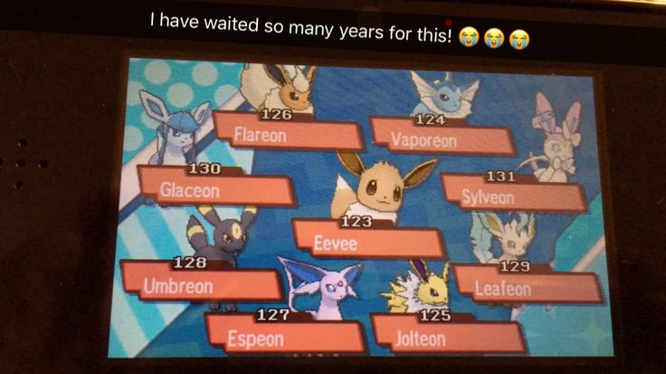All the Eevee evolutions!