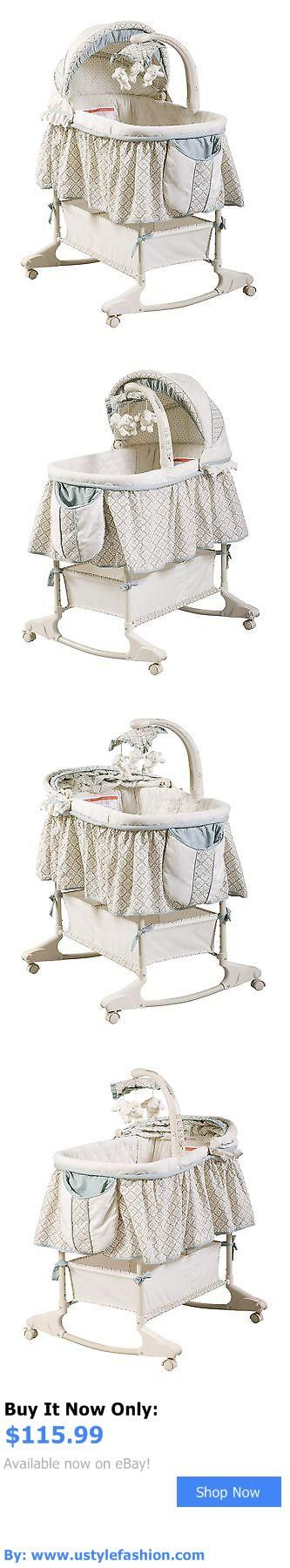 Bassinets And Cradles: Delta Children Rocking Bassinet Clayton Pack Of 1 BUY IT NOW ONLY: $115.99 #ustylefashionBassinetsAndCradles OR #ustylefashion