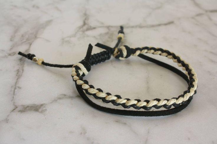 Braided Bracelet, Double Bracelet, Woven Bracelet, Unisex, Handmade, Anklet, Macrame Braided Bracelet, Suede Bracelet by LeatherTrove on Etsy