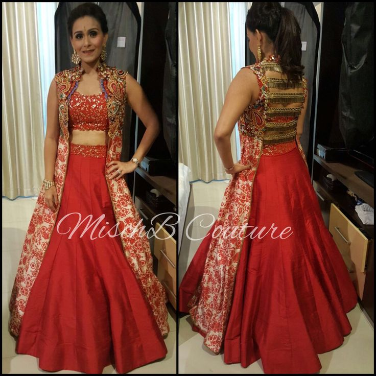 All fired up lehenga by mischb Couture
