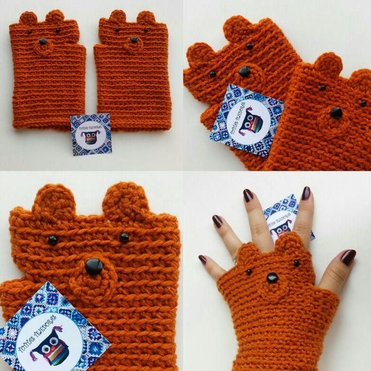 guantes, mitones sin dedos a crochet Tutitas Tejedoras <3