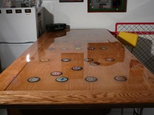 Picture Of Product #214 Resin On A Table Top.This Can Be Applied To