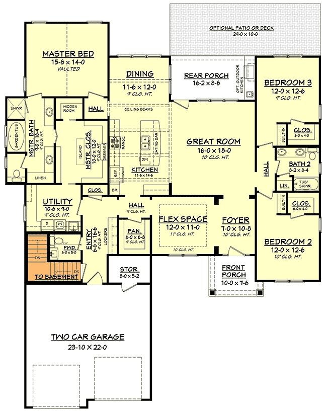 plan 51757hz open concept craftsman home plan with flex space 175 house plans pinterest. Black Bedroom Furniture Sets. Home Design Ideas
