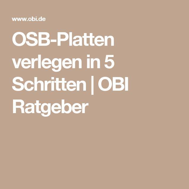 OSB-Platten verlegen in 5 Schritten | OBI Ratgeber