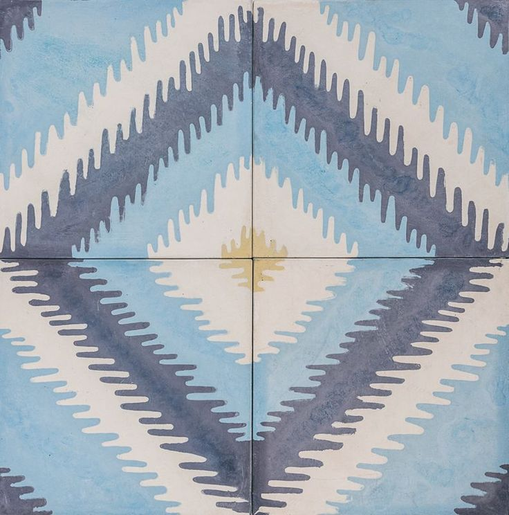 Cement Encaustic Tile Ikat Design — 969