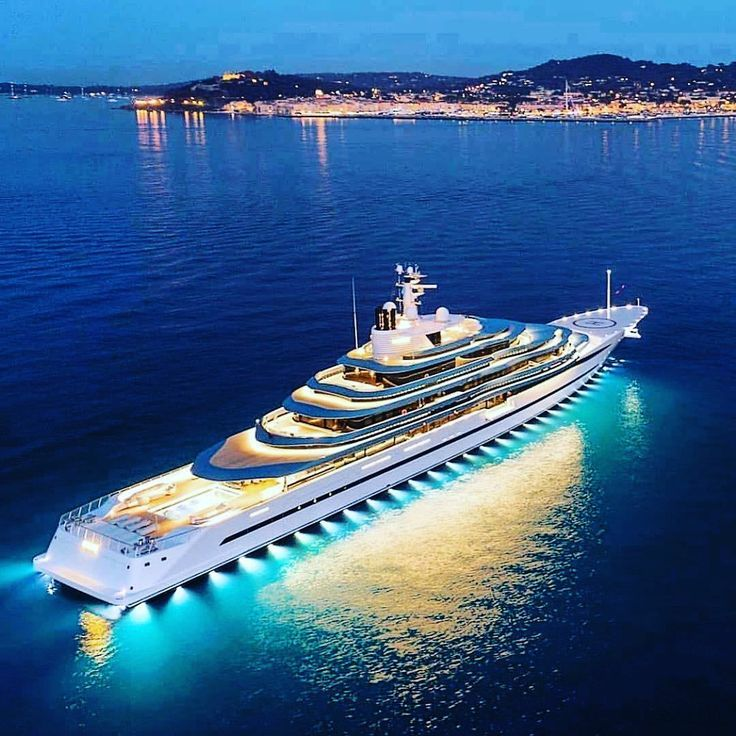 Luxury Yacht Charter Company On Instagram M Y Jubilee 110m At Anchor Near St Tropez At Night Is A In 2020 Luxury Yachts Boats Luxury Super Yachts