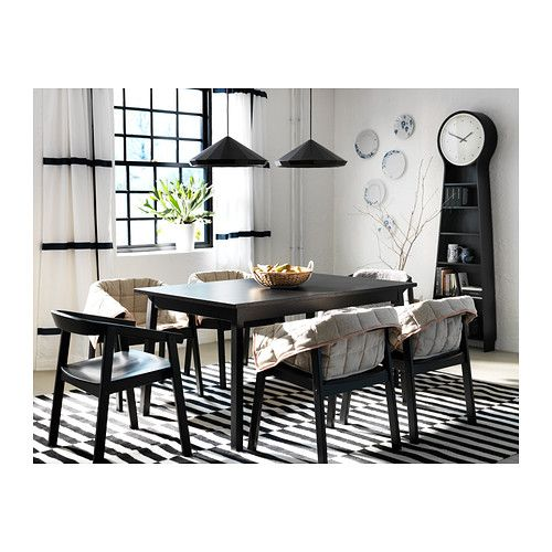 TRANETORP Extendable table IKEA Extendable dining table with 1 extra leaf seats 4-6; makes it possible to adjust the table size according to need.