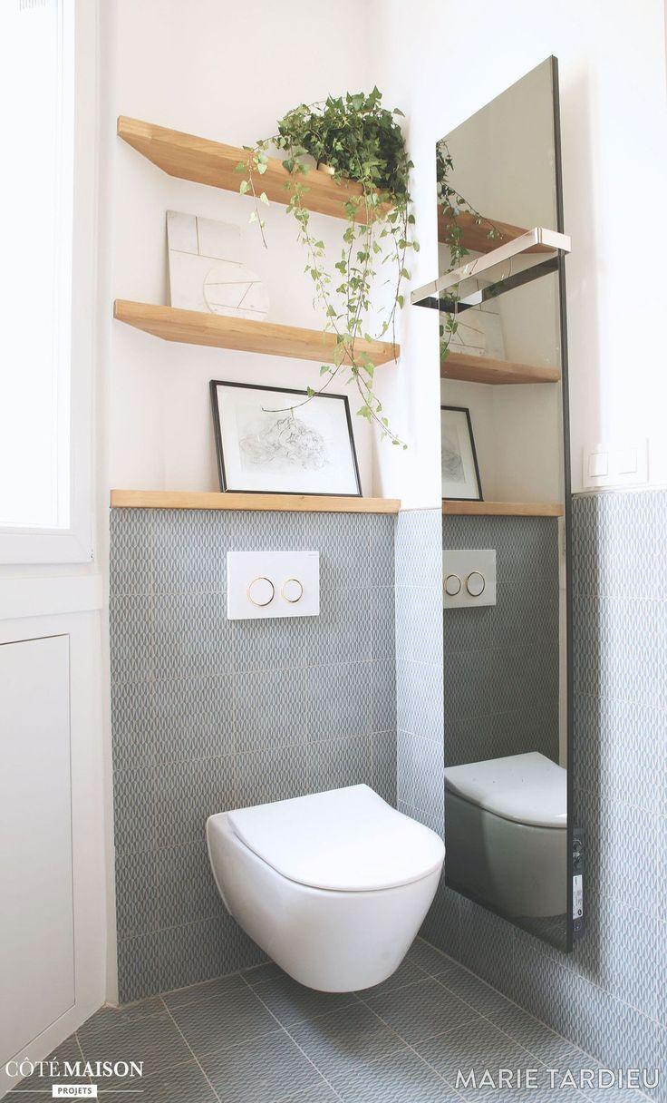 Chic et géométrie dans une salle de bain scandinave, Marie ...