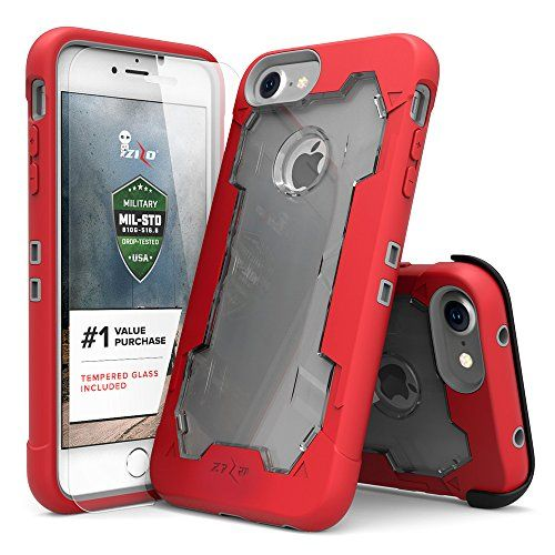 iPhone 7 Case Zizo Proton Cover [Military Grade Drop Tested] with FREE 0.3m 9H [Tempered Glass Screen Protector] Kickstand Holster Belt Clip | xMart Multishop