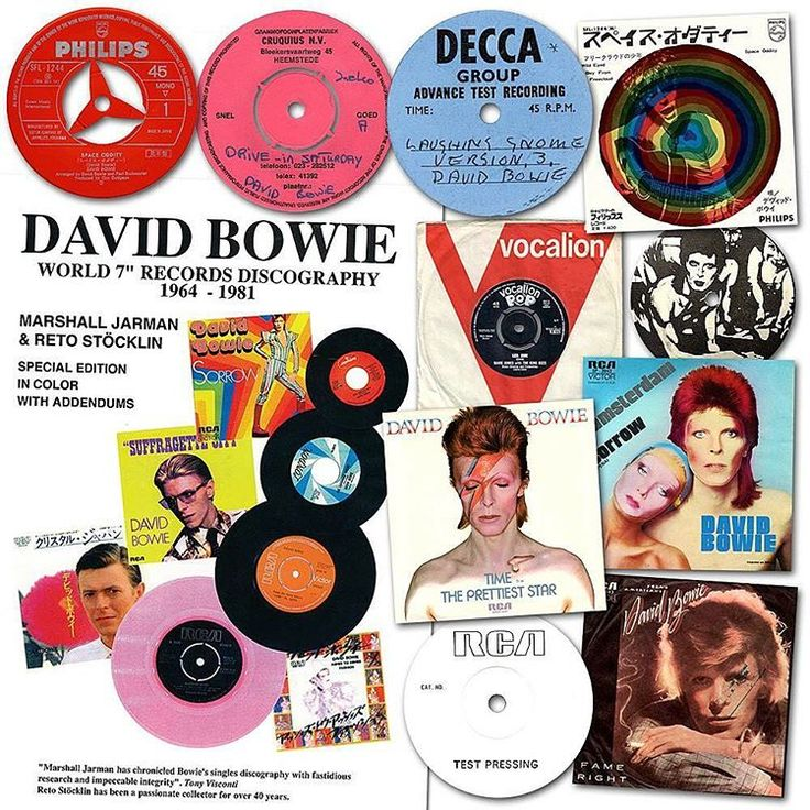 """BOWIE WORLDWIDE 7"""" DISCOGRAPHY BOOK"""