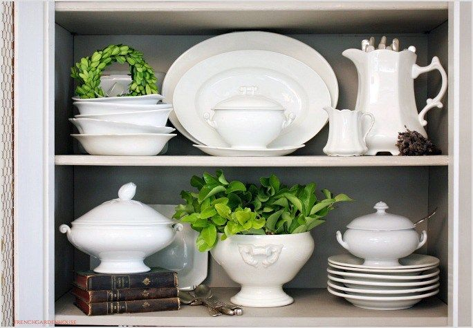 """Sometimes known as """"the little black dress"""" of pottery, white ironstone mixes beautifully with antique, traditional, farmhouse, French country or contemporary interiors."""