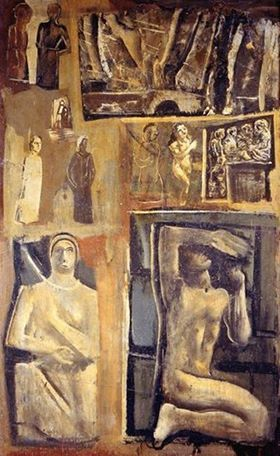 Mario Sironi (Italian, 1885-1961) - Composition, 1944