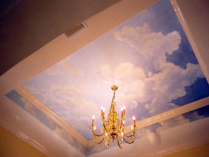 From this is a wallpaper mural which a for Ceiling mural in smokers lounge
