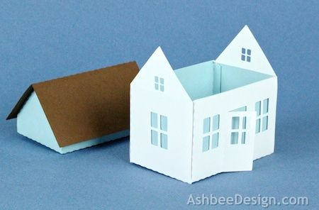 Project Description:  A new crafter asked if I might apply some of my tutorial ability and simple house style to a house box with an openin...