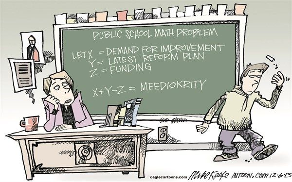 Math Problem by Political Cartoonist Mike Keefe