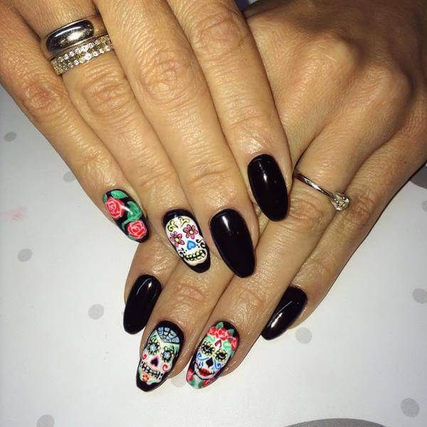 Best Sugar Skull Nail Art Designs for 2017 - Styles Art - 22 Best Sugar Skull Nail Art Designs Images On Pinterest Skull