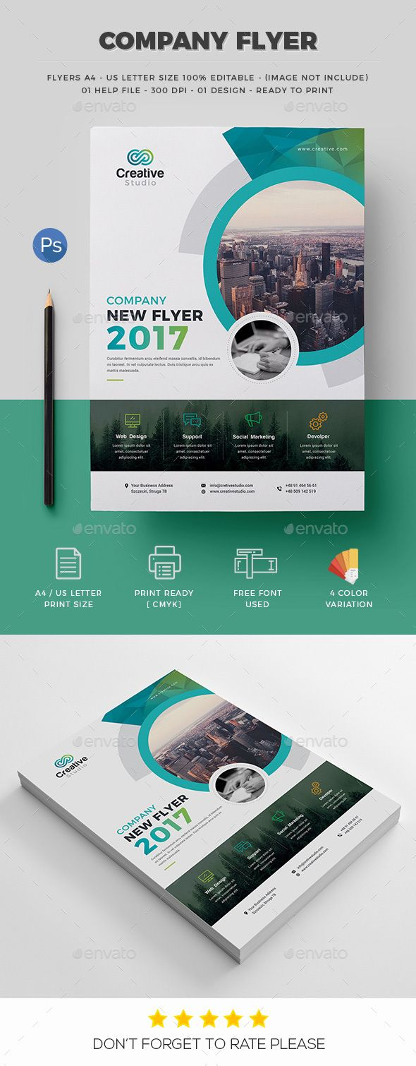 quarter page flyer template